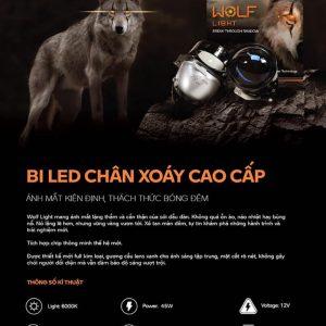 bi led chan xoay wolf light chinh hang aozoom 4