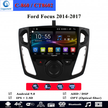 man hinh android cogamichi c 860 theo xe ford focus 2014 2017